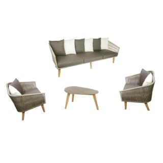 Salon bas Orchis 6 places avec 1 table L.166 cm L000086