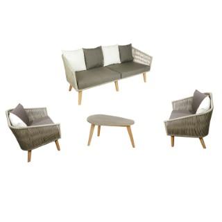 Salon bas Orchis 4 places avec 1 table L.75 cm L000087