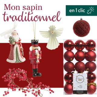 Lot décoration du sapin Traditionnel botanic® L000190
