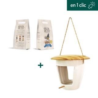 """Kit """"Mangeoire et mélange de graines"""" L000285"""