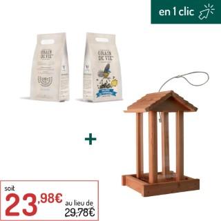 """Kit """"Mangeoire et graines de tournesol"""" L000287"""