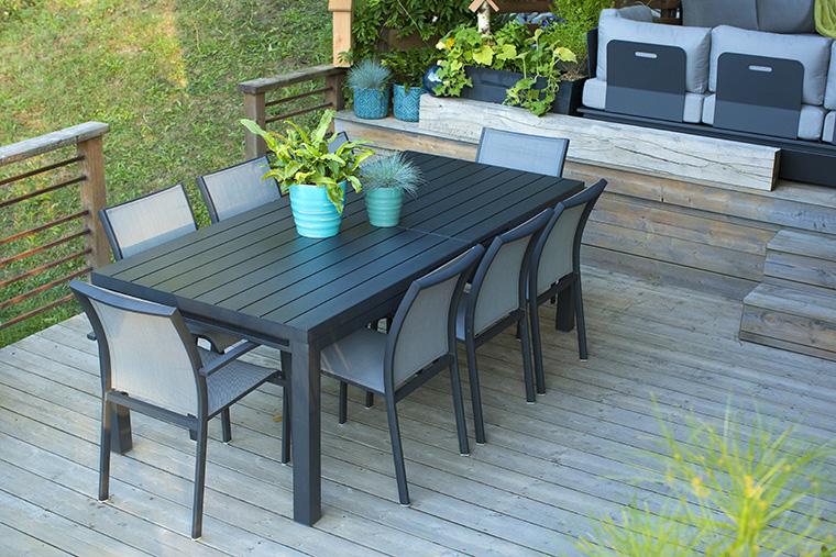 Ensemble repas Carlina avec table extensible 157/210 cm et 6 chaises L000082
