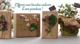 Je crée mon emballage cadeau nature