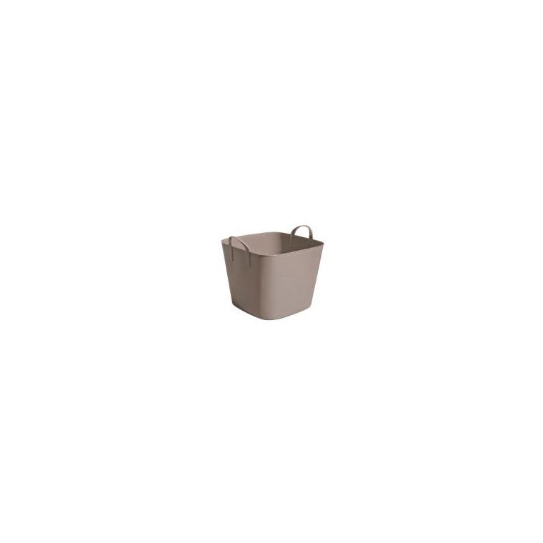 Bassine carrée marron taupe de 25 L