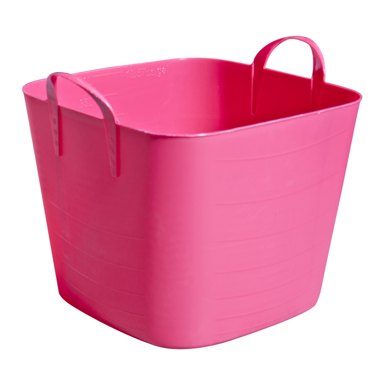 Bassine carrée rose framboise de 25 L