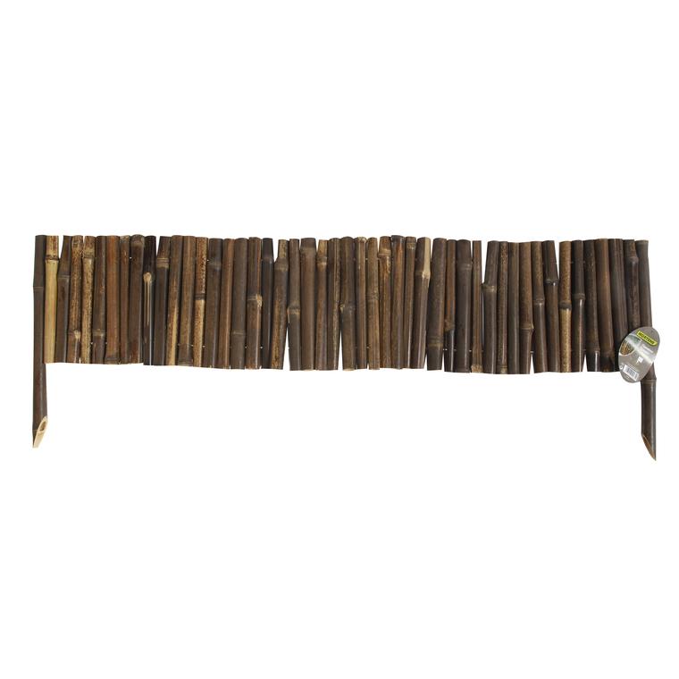 Bordure flexible Bamboo Border en bambou, coloris noir, 35 x 100 cm