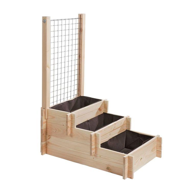 potager 3 tages avec treillis structures potager balcon. Black Bedroom Furniture Sets. Home Design Ideas