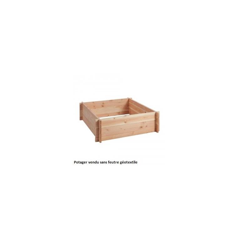 potager carr 90x90 cm 180 l botanic. Black Bedroom Furniture Sets. Home Design Ideas