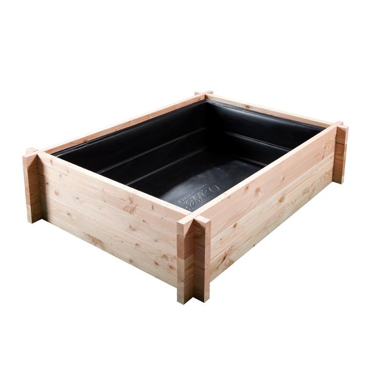 Tour en bois potager bassin aquatique 120 x 160 x 48 cm for Bassin exterieur hors sol