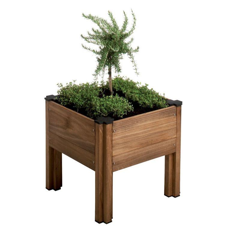 carr potager sur lev byo 45x45x41 cm potagers en carr potager botanic. Black Bedroom Furniture Sets. Home Design Ideas