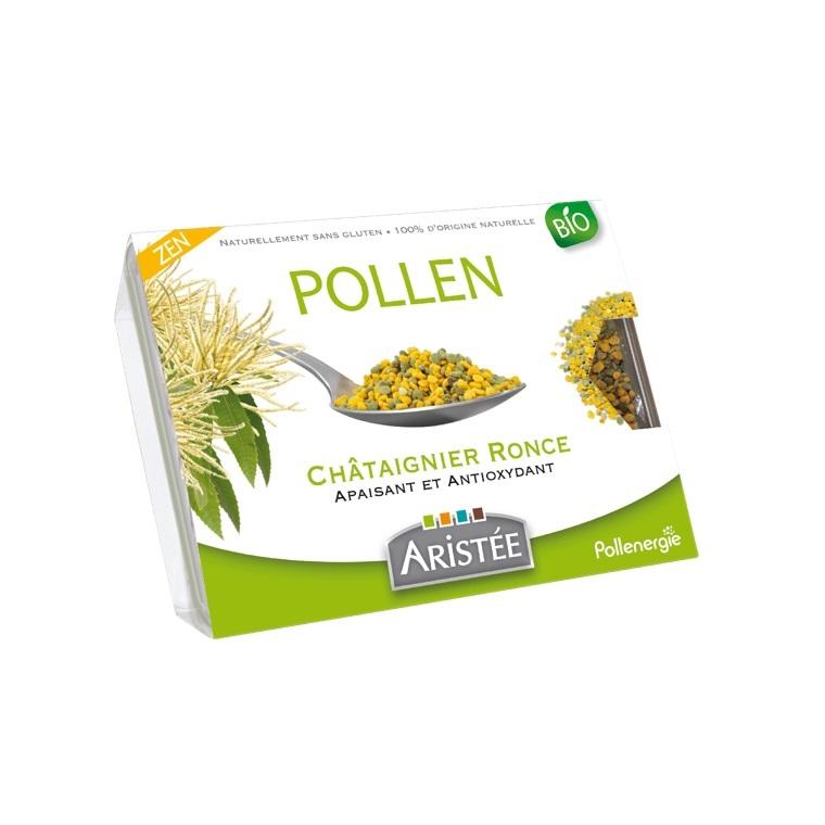 Pollen de châtaignier et de ronce bio en barquette de 250 g