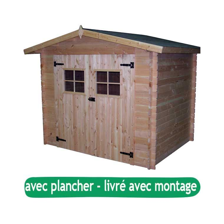 Abri de jardin MORVAN avec plancher/ livré et monté