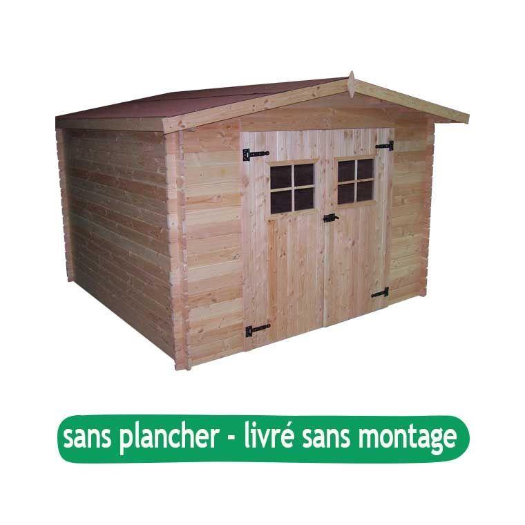 Abri de jardin MONTARON sans plancher / livré