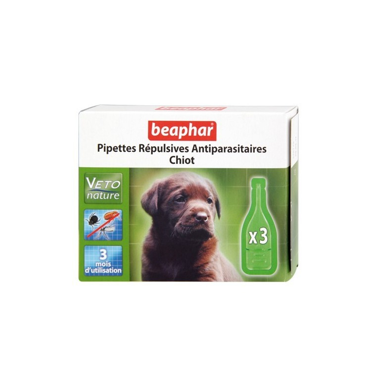 Antiparasitaires Chiot x3 pipettes beaphar