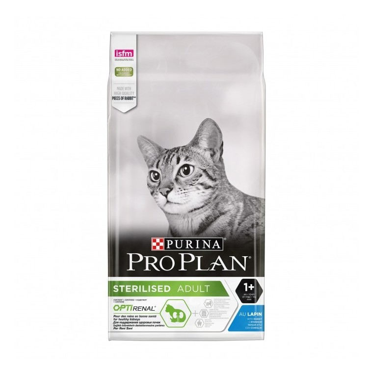 Croquettes pour chat stérilisé au lapin Pro plan 3 kg