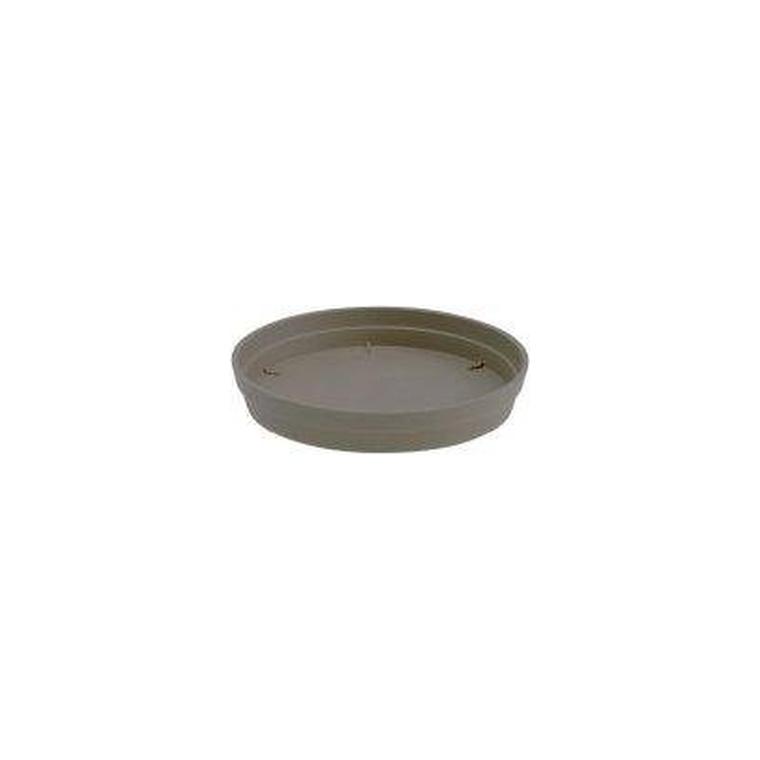 Soucoupe Ronde Taupe//Granite 43/cm Floralo Terni r/ésistant au Gel