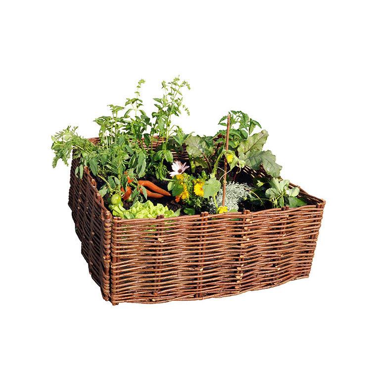 Carr potager en osier brun 60x60 cm botanic for Botanic com jardin