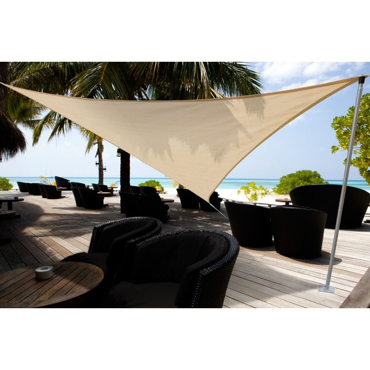 Voile ombrage sable 5m triangulaire austral botanic - Voile d ombrage botanic ...