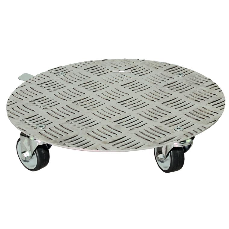support 224 roulettes en aluminium rond diam 30 cm supporte jusqu 224 14 kg supports et