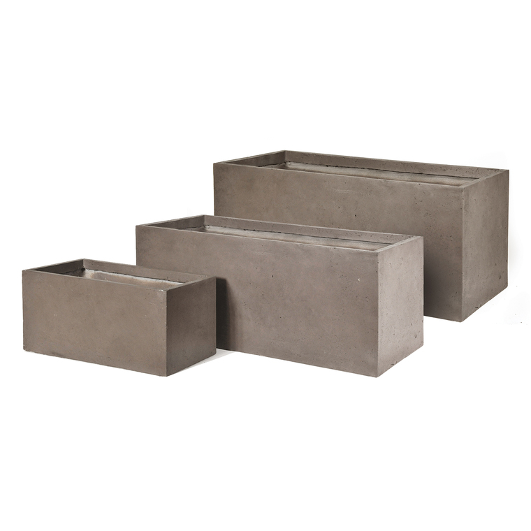 Bac Rectangle geneve l.80x40xh.40 taupe