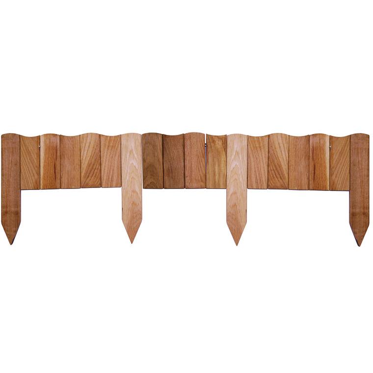 Bordure enroulée chêne Vague 110 cm