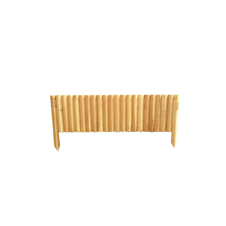 Bordure rigide 1/2 rondin vertical mélèze huilé 100 x 40 cm