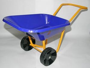 Brouette en m tal pour enfant bleue outils de jardinage enfant devaux jardin botanic - Brouette enfant metal ...