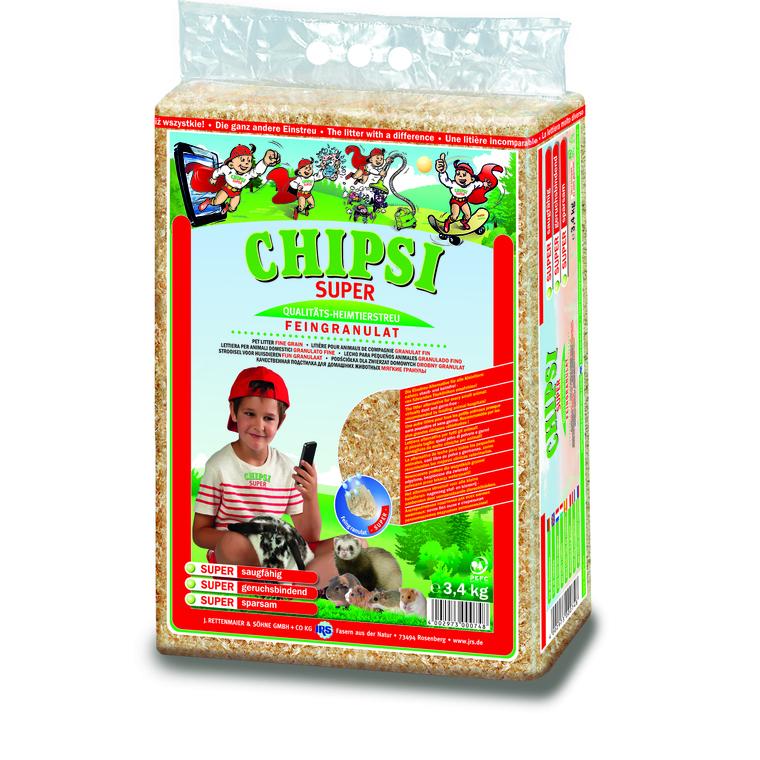 Litière pour rongeur chipsi super 3,4 kg