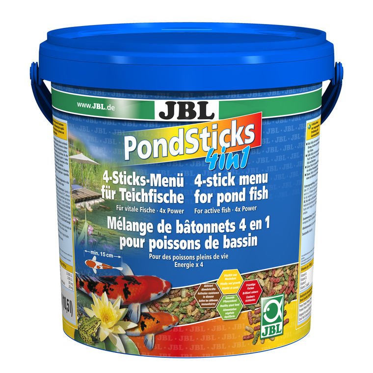 Aliment pour poissons Pond Sticks 4 en 1 / 10,5 L