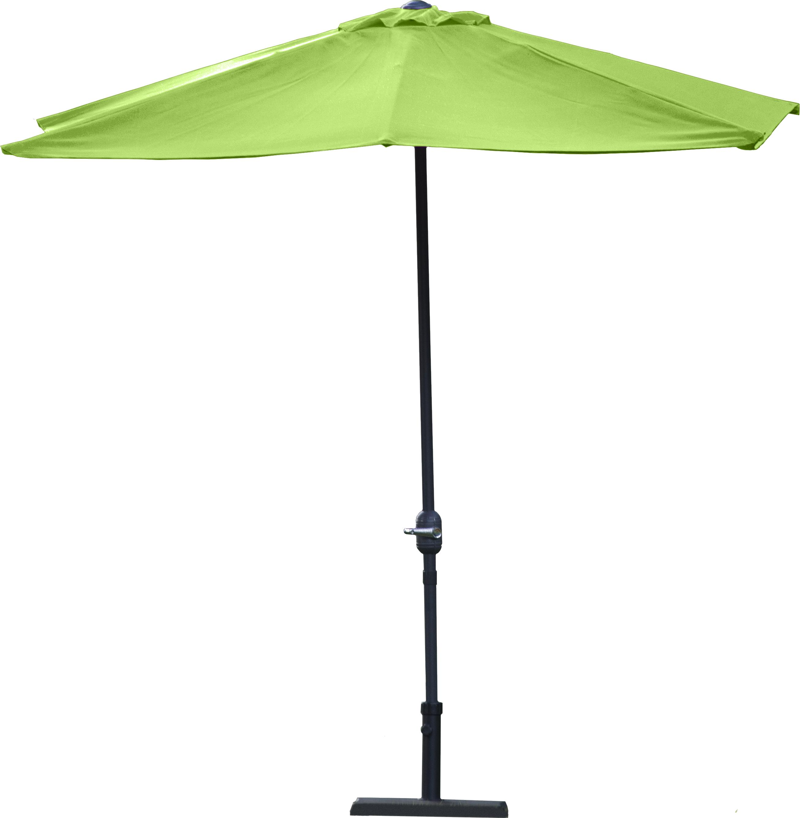 demi parasol rectangulaire aubergine 2 30 m x 1 30 m. Black Bedroom Furniture Sets. Home Design Ideas