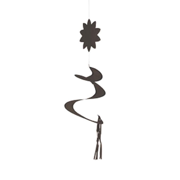 Mobile à vent spirale brun