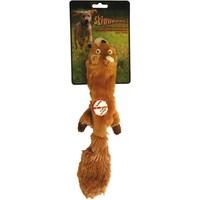 Jouet 34cm ecureuil peluche Skinneeez pour chien