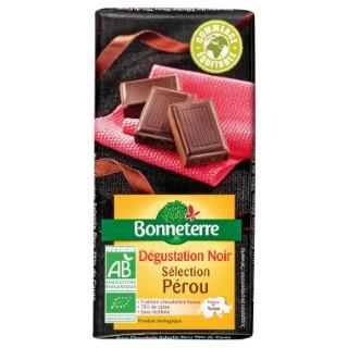 Chocolat noir selection perou 75% 100 g BONNETERRE