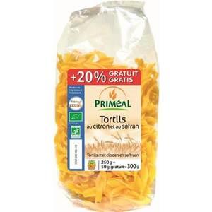 Tortils citron safran +20% gratuit 250 g PRIMEAL