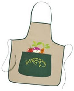 Tablier de jardin pour enfant broderie radis accessoires de jardinage enfant rostaing jardin - Tablier jardinier enfant ...