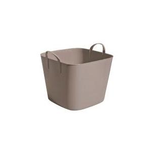 Bassine carrée marron taupe de 25 L 101700