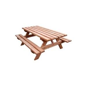 Table pique nique forestière en bois