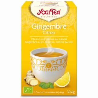 Yogi tea gingembre citron.17 sachets 103086