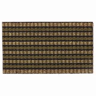 Paillasson d'extérieur Emeraude noir et vert polypropylène - 70 x 40 cm