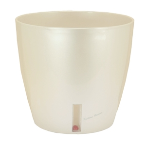 Pot EVA D.36 cm x H34 cm Blanc nacré Réserve d'eau