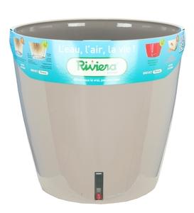 Pot EVA D.36 cm x H34 cm Taupe Réserve d'eau