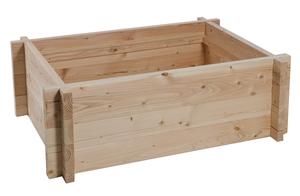 Tour en bois potager/bassin aquatique 120 x 80 x 48 cm