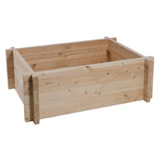 Tour en bois potager/bassin aquatique 120 x 80 x 48 cm 105377