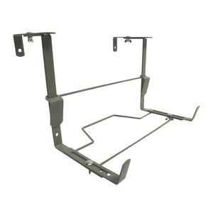 Support balconnière universel ergonomique en métal gris souris 35 cm 105390