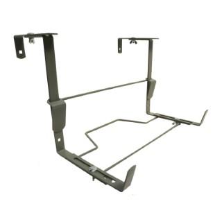 Support balconnière universel ergonomique en métal gris souris 16 cm