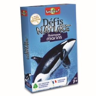 Boite de jeu Défis Nature sur le thème des animaux marins 110847