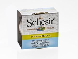 Boîte pour chat Schesir Thon Rouget + bouillon 70 g