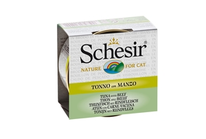 Boîte pour chat Schesir Thon Boeuf + bouillon 70 g