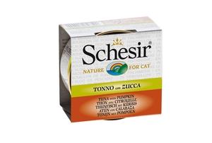 Boîte pour chat Schesir Thon Citrouille + bouillon 70 g