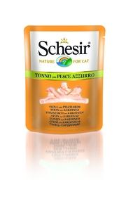 Sachet fraîcheur pour chat Schesir Thon Sardines + bouillon 70 g